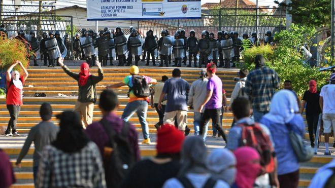 honduras protests military police