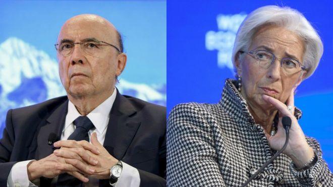 Henrique Meirelles e Christine Lagarde em Davos