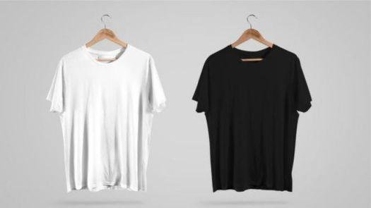 Camisetas branca e preta