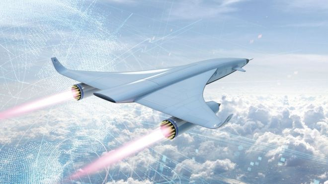 An illustration of Reaction Engines on a hypersonic vehicle