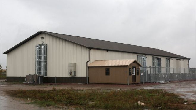The Santee Sioux tribe's facility for growing marijuana is pictured on 24 September 2015