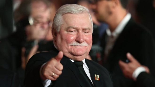 Former Polish president Lech Walesa