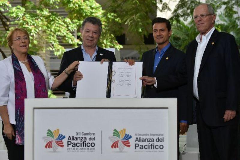Cumbre presidencial de la Alianza del Pacífico.