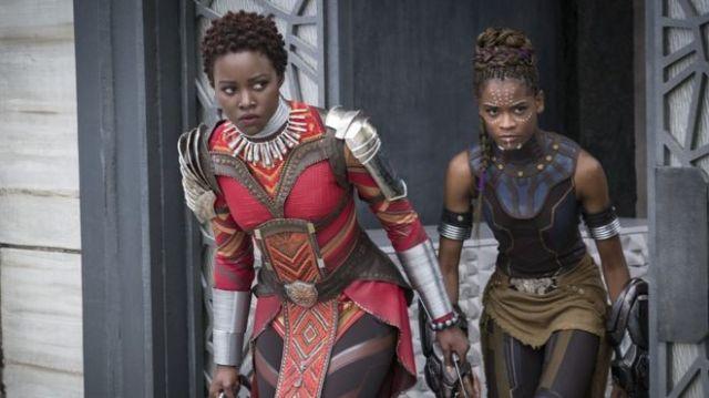 Lupita Nyong'o i Letitia Wright in Black Panther