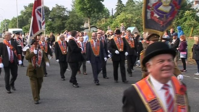 A parade from the Somme Museum near Bangor followed the route taken by the 36th Ulster division