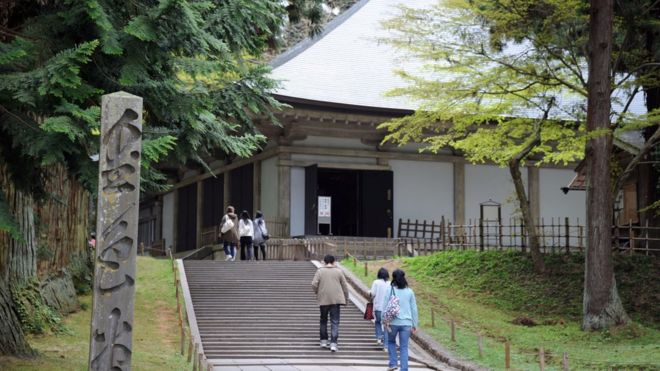 Konjikido, the golden hall at Chusonji temple in the historical town of Hiraizumi