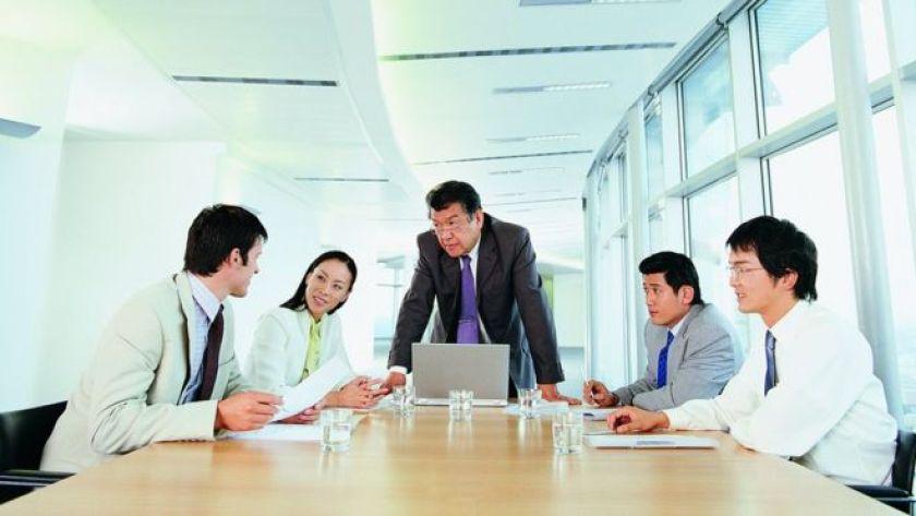 Japon şirketinde toplantısı
