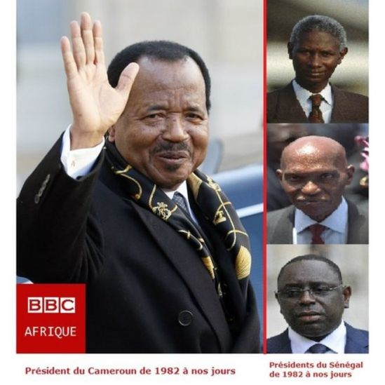 Paul Biya came to power three years after Senghor's departure. Two alternations occurred and three presidents followed one another: Diouf, Wade and Macky Sall.