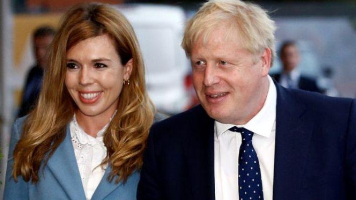 İngiltere Başbakanı Boris Johnson ve partneri Carrie Symonds