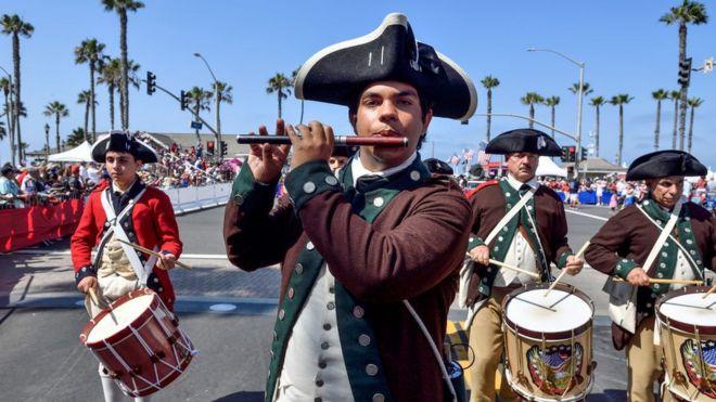 Resultado de imagen para Fotos del desfile en EEUU con motivo de la 'Declaración de Independencia