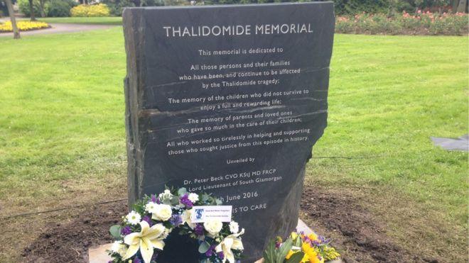 Thalidomide memorial Cardiff