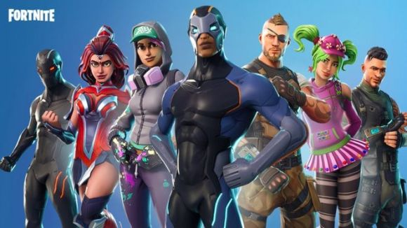 Group picture of Fortnite characters