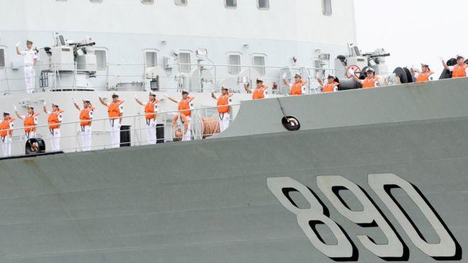 Tàu hải quân Trung Quốc 890, hình chụp hôm 7/10/2016, khi tàu ghé thăm Malaysia