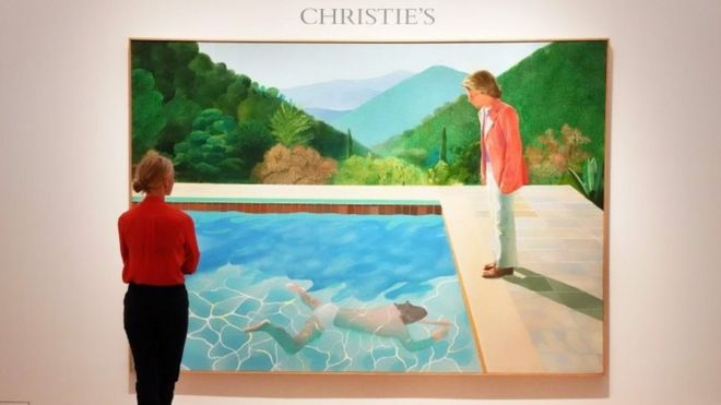 hockney painting breaks auction