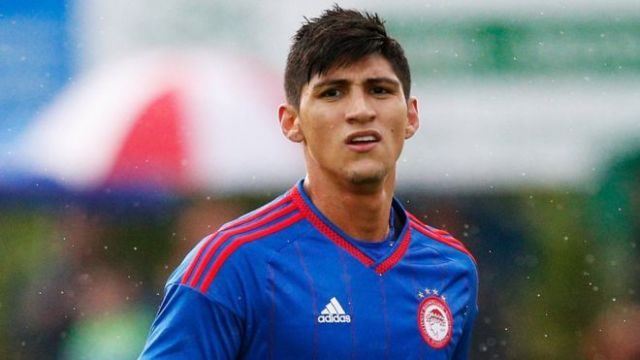 Alan Pulido of Olympiakos, file image from July 2015
