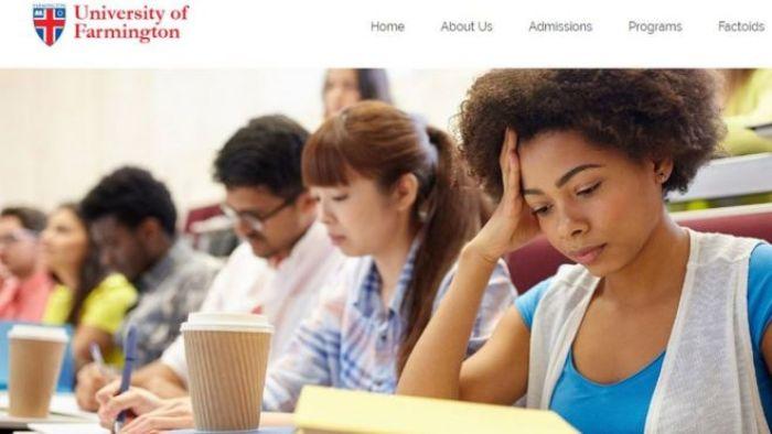 University of Farmington fake website