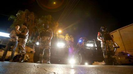jordanian security forces outside israeli embassy