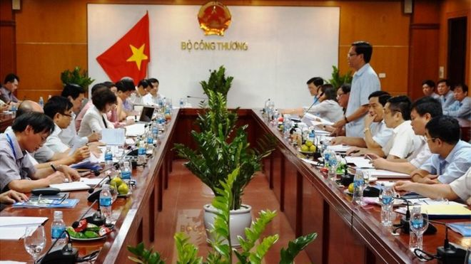 Một cuộc họp ở Bộ Công thương