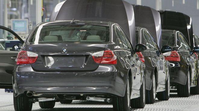 BMW cars (file photo)