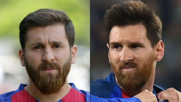 Reza Parastesh y Lionel Messi.