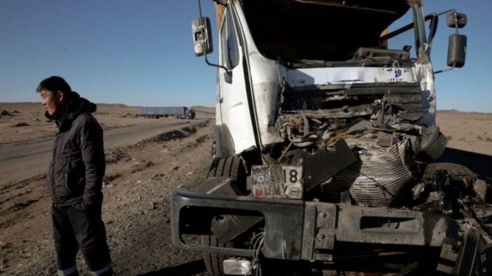 Accidente de camión.