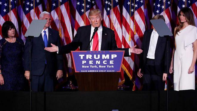 Donald Trump faz discurso após confirmação da vitória