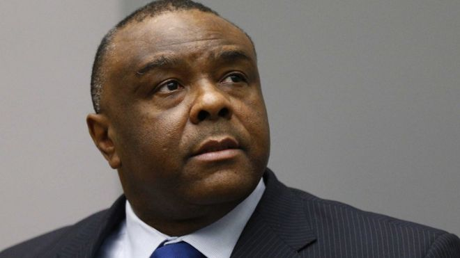 Jean-Pierre Bemba sits in the courtroom of the International Criminal Court (ICC) in The Hague, The Netherlands, 21 June 2016