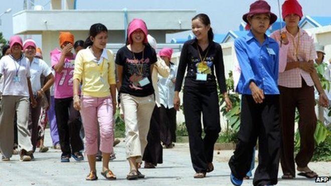 cambodia garment factories face