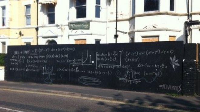 bournemouth mathematics graffiti meaningless