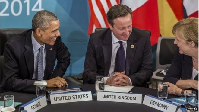 David Cameron, Barack Obama and Angela Merkel