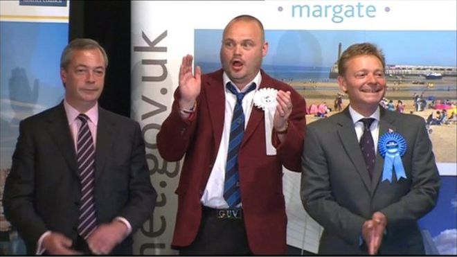 Nigel Farage, Al Murray and Craig Mackinlay