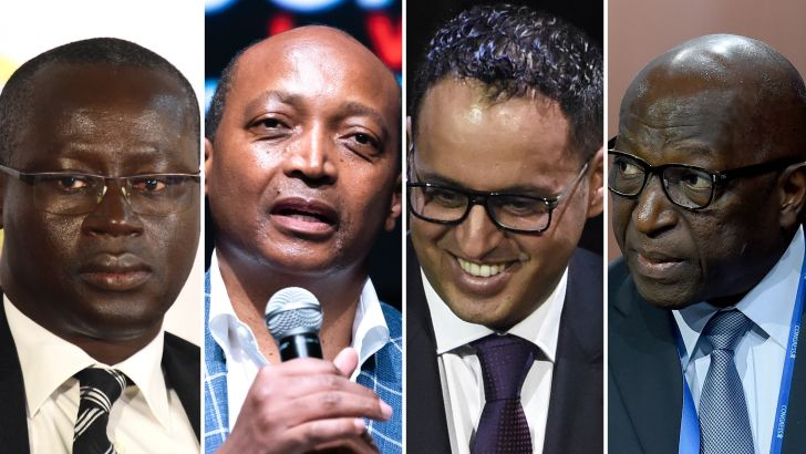 Augustin Senghor, Patrice Motsepe, Ahmed Yahya and Jacques Anouma