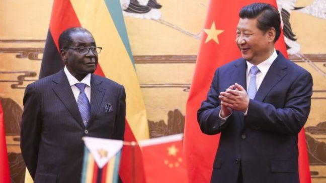 Zimbabwean President Robert Mugabe and Chinese President Xi Jinping