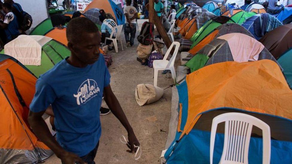 Un refugio en Tijuana.