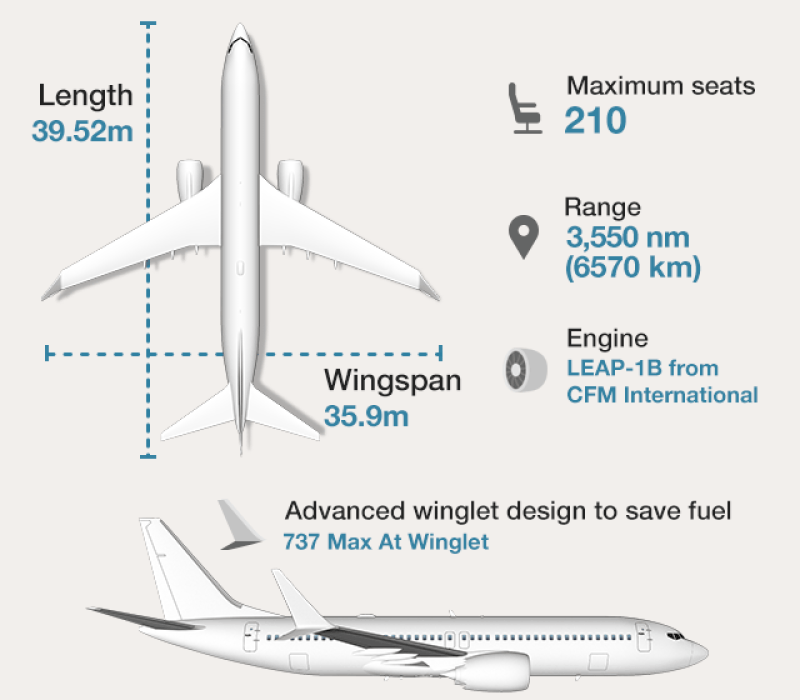 Graphic: Boeing 737 Max 8