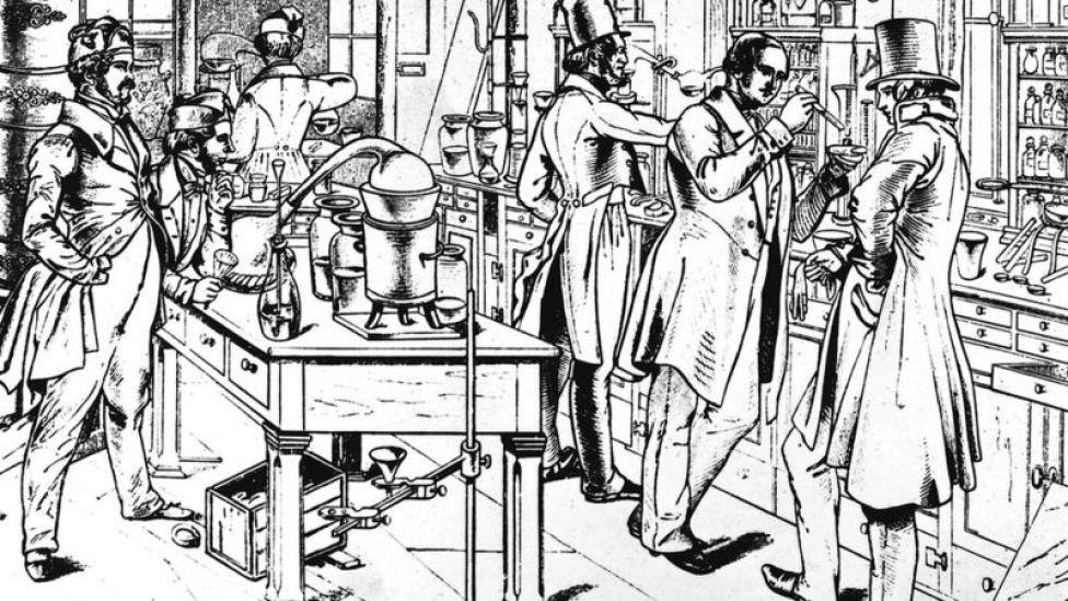 Laboratorio del siglo XIX