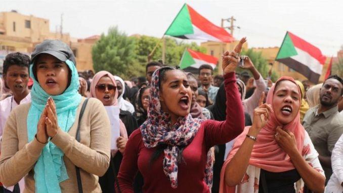 Manifestants au Soudan, juillet 2019