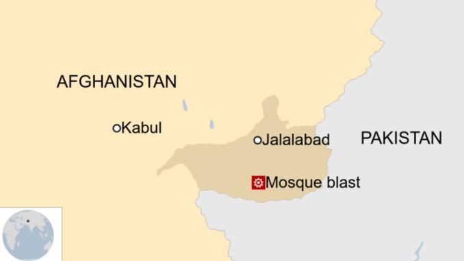 Une carte montrant où l'attaque a eu lieu en Afghanistan