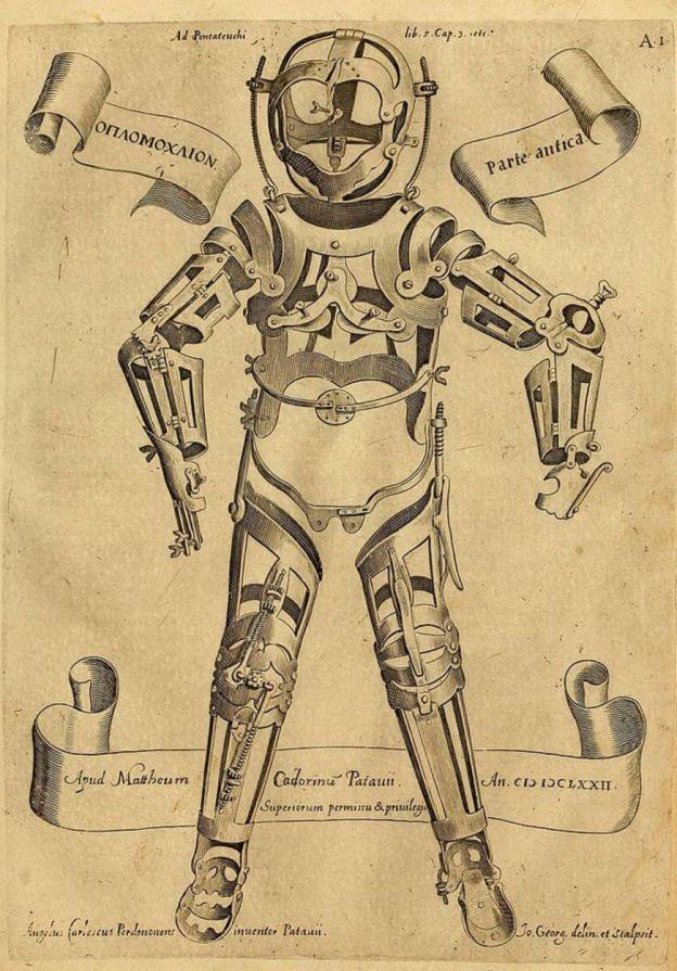 Exoesqueleto de Girolamo Fabrizi d'Acquapendente