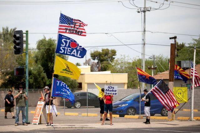 Protesters in Arizona