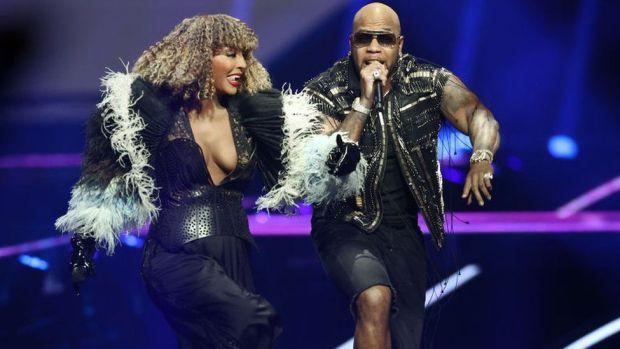 Senhit Zadik Zadik of San Marino and rapper Flo Rida