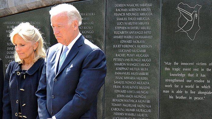 Joe Biden and his wife Jill Biden