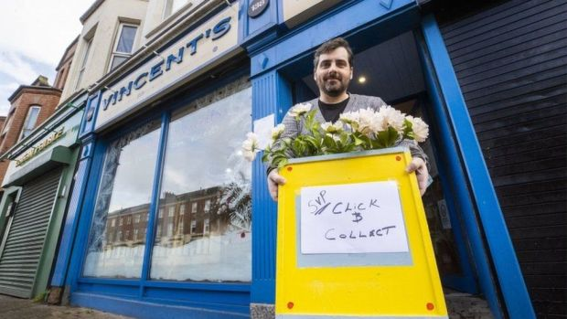 Gerry Keating, store manager of Vincent's charity shop on the Ormeau Road in Belfast