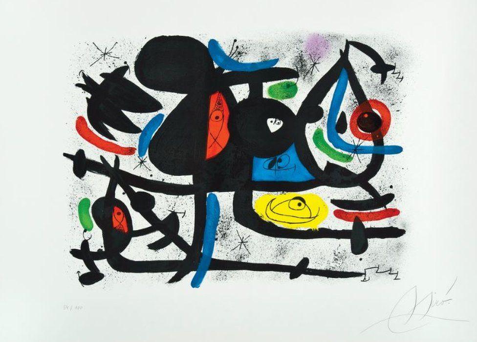 Luge des Amants II by Joan Miró