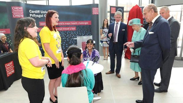 The Duke of Edinburgh and the Queen attended the opening of Cardiff University's Brain Research Imaging Centre in 2016