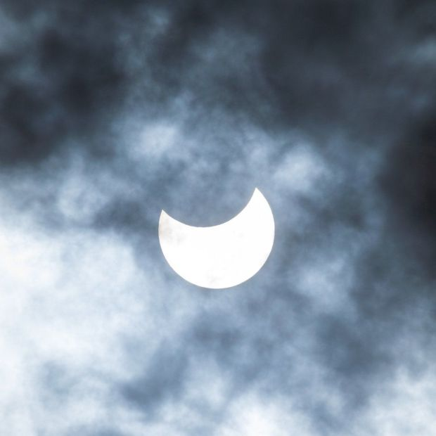 Eclipse from Embo beach in Scotland