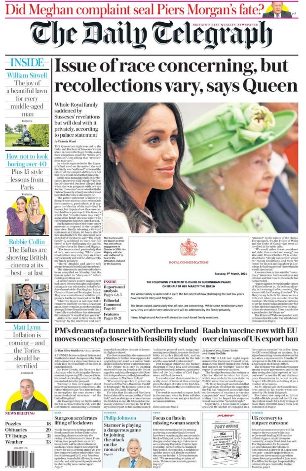 The Daily Telegraph 10 March