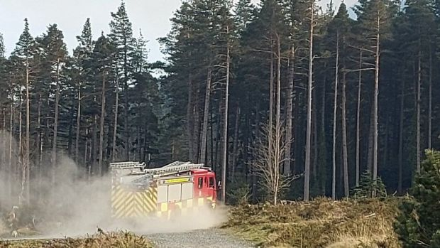 Fire engine in the Mournes