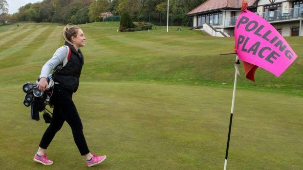 Golfer Julia Smith at the Merchants of Edinburgh Golf Club