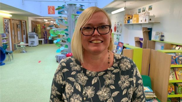 Head teacher Sue Wright at Jeavons Wood Primary in Cambourne
